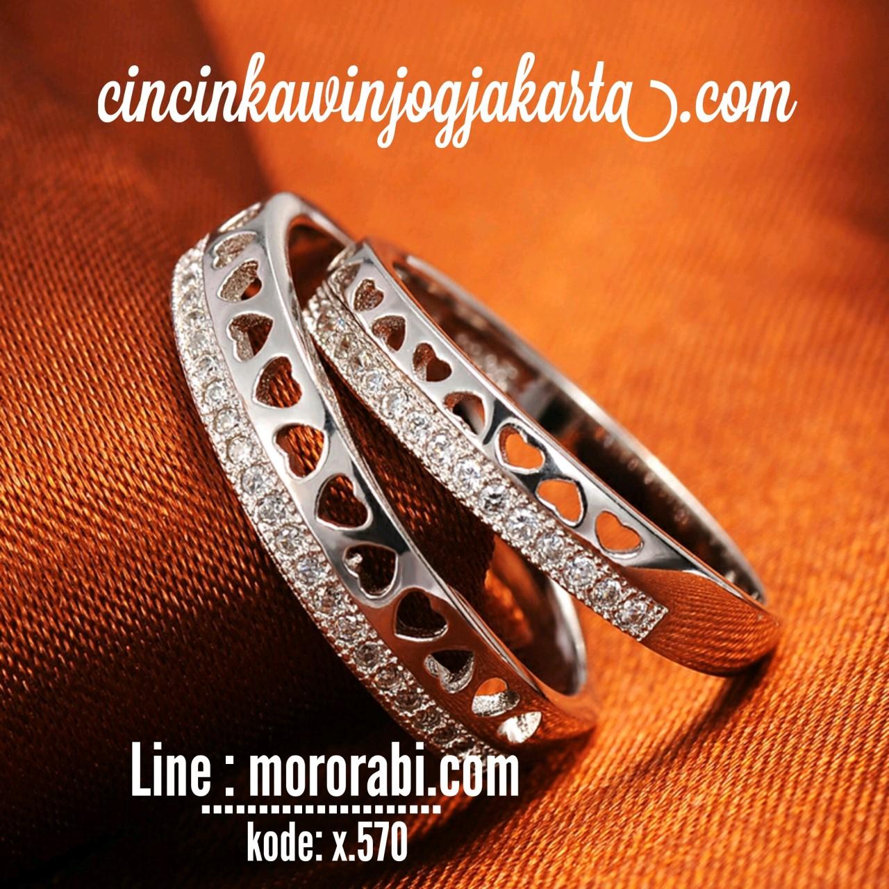 Jogja Blanja Shop Line Cincin Pernikahan Palladium 023 032 American Diamond A Iii