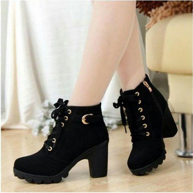 KAISAR- Sepatu Wanita Boots BT02 Hitam: Rp 137.000 Rp 68.000