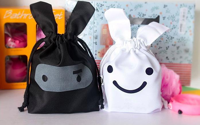 【Caldo卡朵生活】韓系可愛忍者兔子束口收納袋
