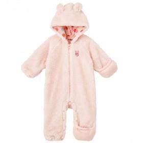 【ホットビスケッツ】シープボア素材♪あったかジャンプスーツ(ピンク×60-80cm)【送料無料】