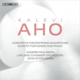 アホ 、カレヴィ(1949-)/Soprano Saxophone Concerto Etc: Paulsson(Sax) J.kuusisto(Vn) Storgards / Lapland Co
