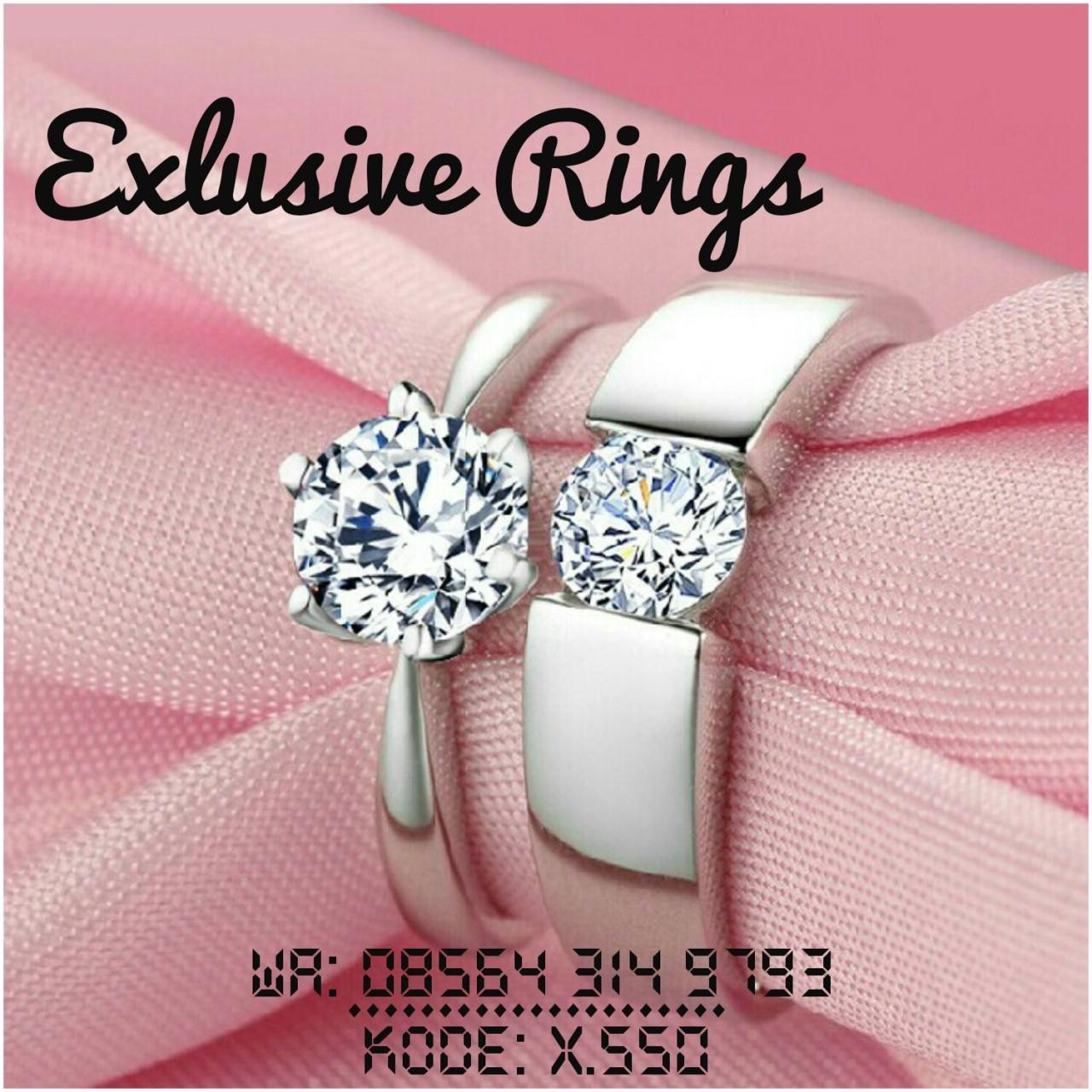 Jogja Blanja Shop Line Cincin Pernikahan Palladium 023 Nikah 049 American Diamond A Iii