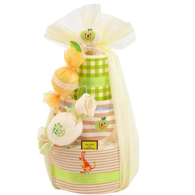 Diaper Cake オーガニックキャンディー青りんご 4943169059785 ギフト おむつケーキ
