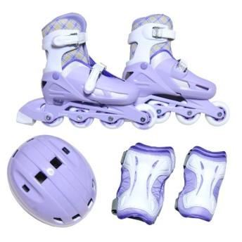 JUICYインラインスケートセットパープルL