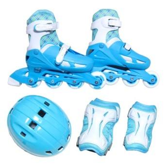 JUICYインラインスケートセットブルーL
