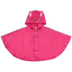 ウサギ柄レインポンチョ 濃いピンク ベビーウェア レイングッズ 91109
