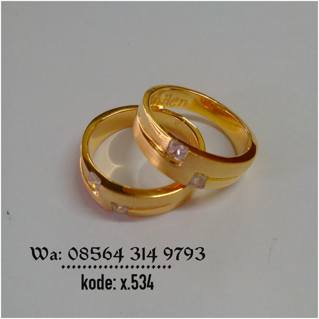 Jogja Blanja Shop Line Cincin Pernikahan Palladium 022 Kawin 056 American Diamond A Iii
