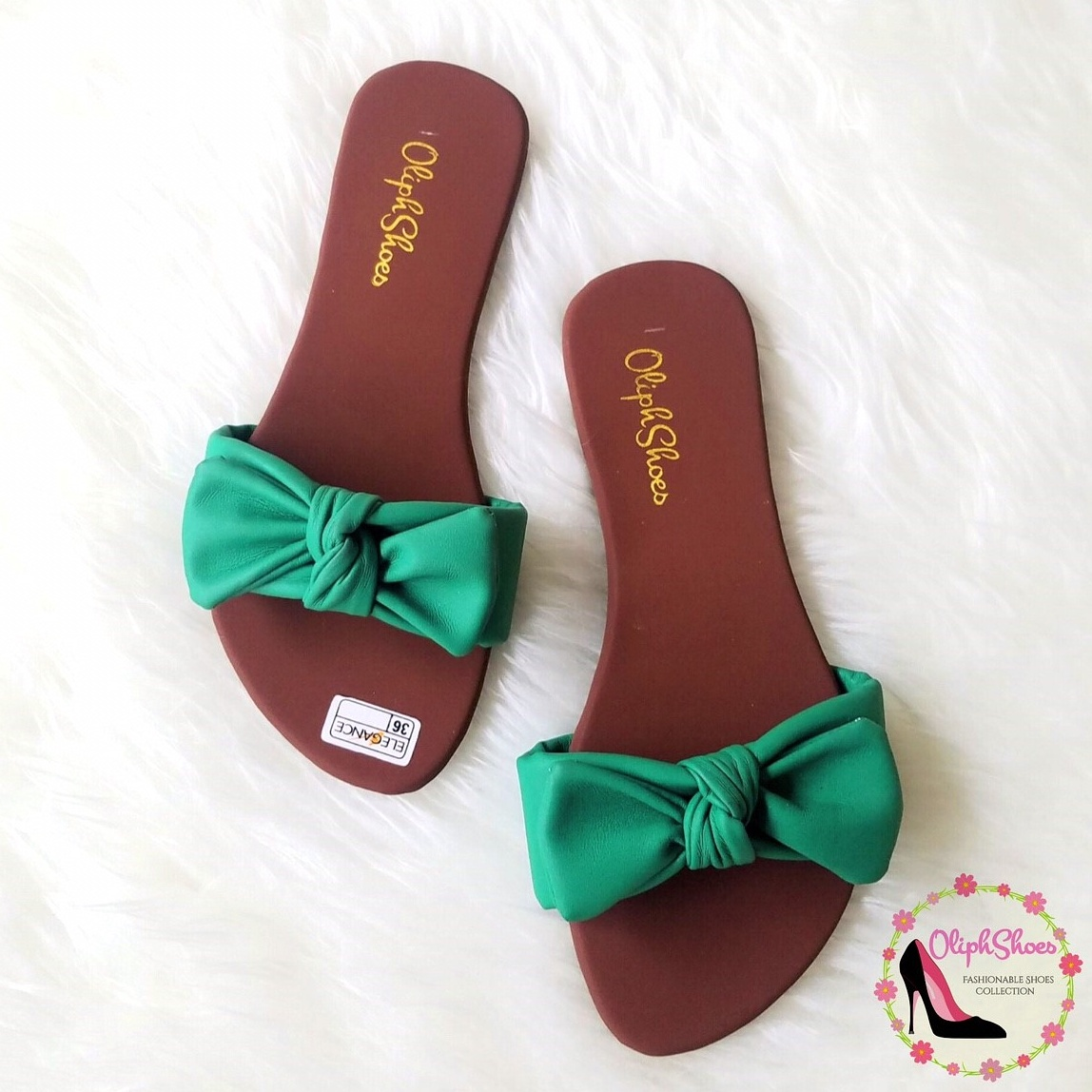 Sandal Santai Wanita - Sandal Cewek - Sandal Pita Kokop Hijau