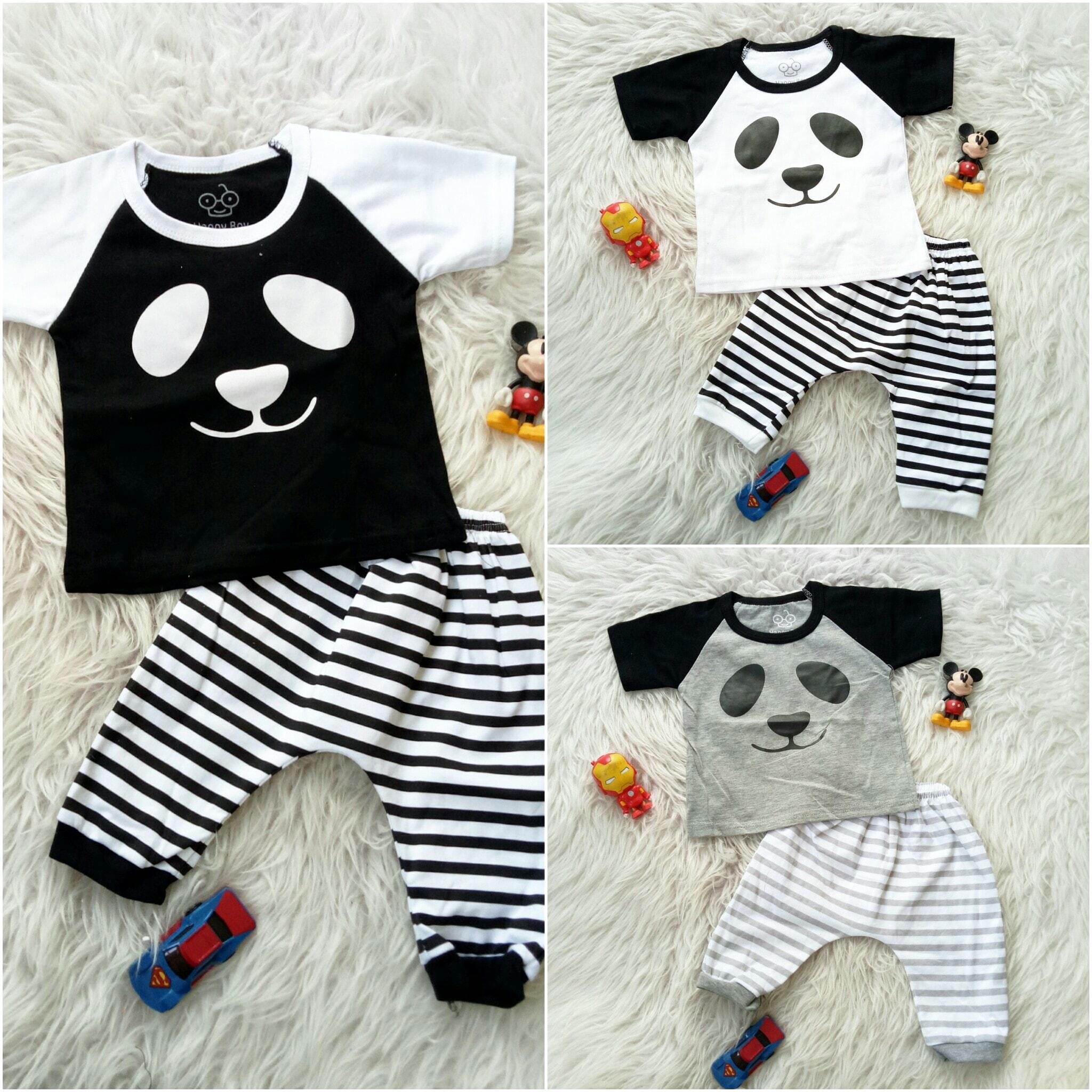 Stelan Panda Review Harga Terkini Dan Terlengkap Indonesia Setelan Kodok 1125 Mo95 Face Monochrome Baju Bayi Anak