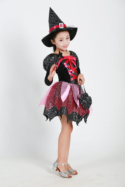小朋友萬聖節 化妝舞會服裝 角色扮演43 (送魔法棒+魔法帽+提袋)