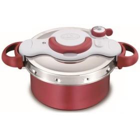 T-fal P4604236 レッド クリプソ ミニット デュオ [圧力鍋(4.2L/IH対応)] 調理器具