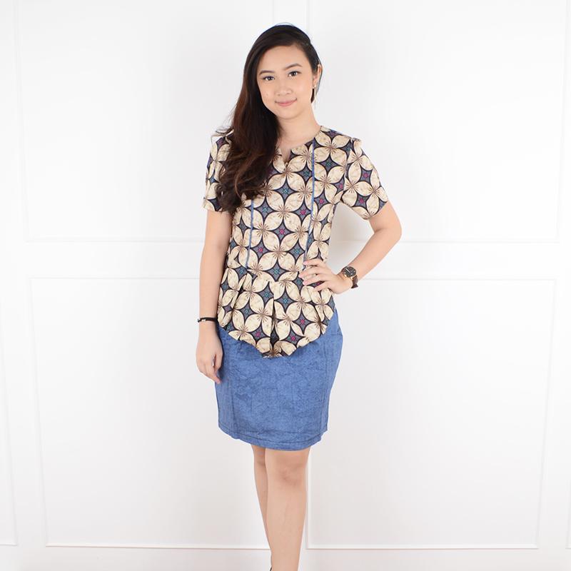 De Voile Dress Batik Wanita sv Winata (Navy) 0c5a44c912