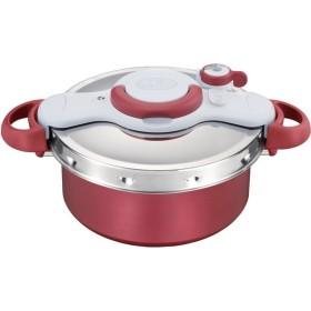 T-fal P4605136 レッド クリプソ ミニット デュオ [圧力鍋(5.2L/IH対応)] 調理器具