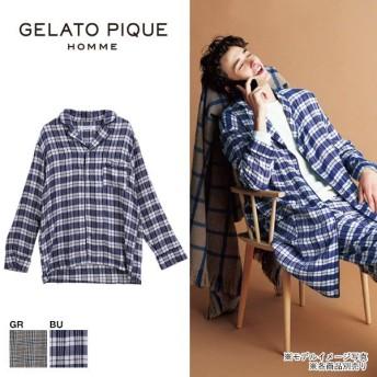(ジェラートピケ オム)GELATO PIQUE HOMME メンズ チェックパジャマシャツ ジェラピケ