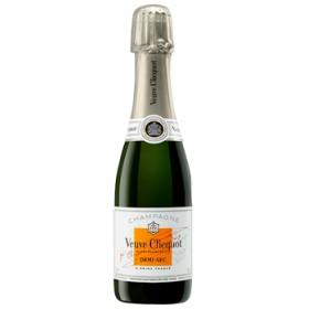 シャンパン スパークリング ワイン 【箱付/ハーフボトル】ヴーヴ・クリコ ホワイトラベル デザインボックス / ヴーヴ・クリコ ◎(VEUVE CLICQUOT WHITE LABEL) フランス 白泡 やや甘口 375ml