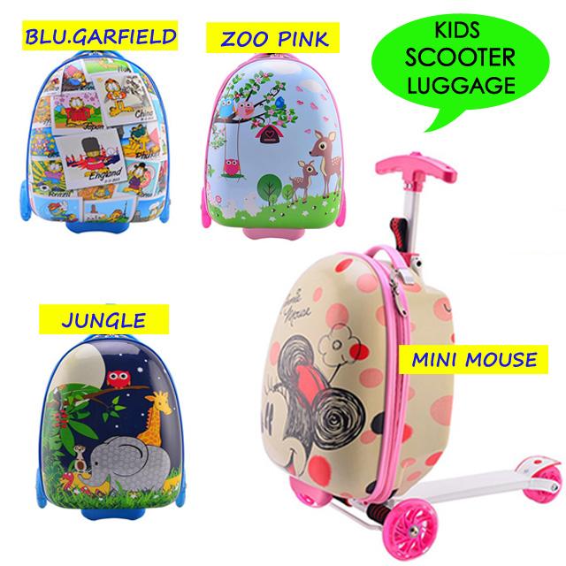JNE Kids Scooter Luggage Koper Anak Tas Sekolah Mainan Otoped Sepeda Skuter