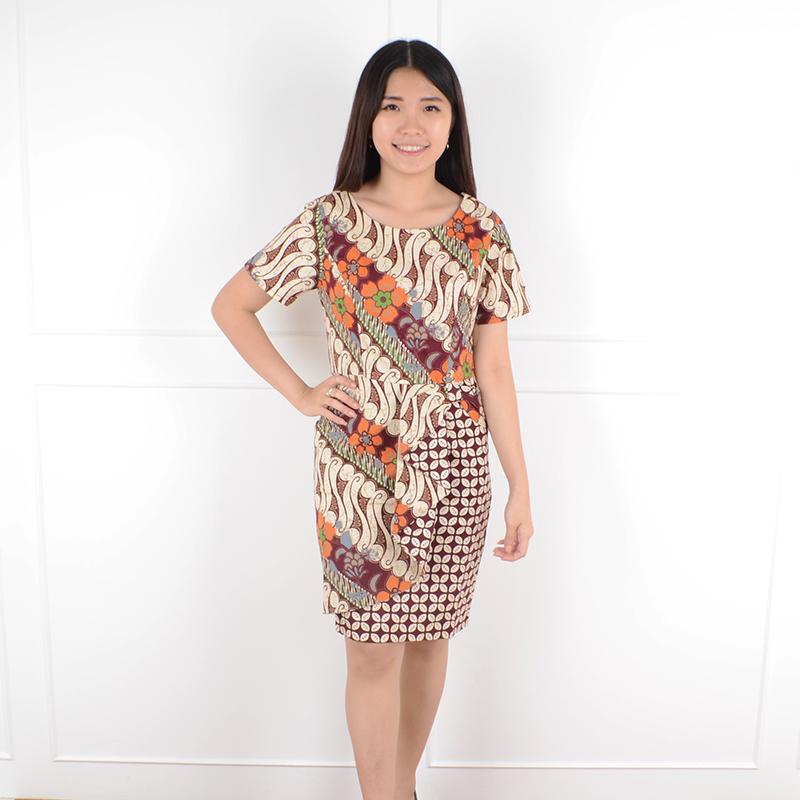 De Voile Dress Batik Wanita Jumbo Uaine Sht ASSP (Maroon) 9feb2117e8