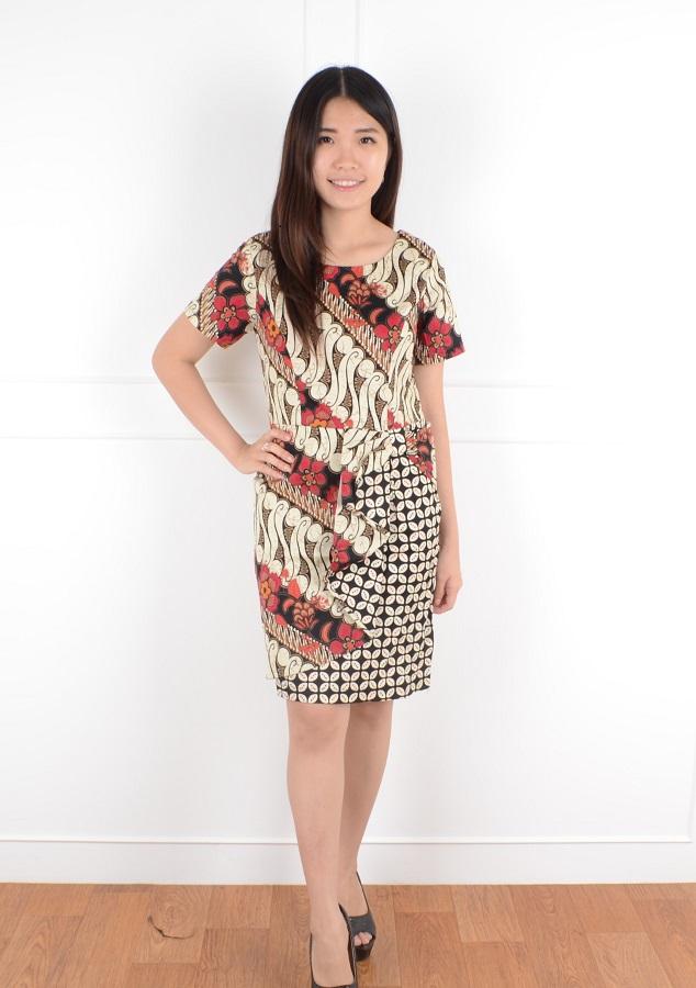 De Voile Dress Batik Wanita Uaine sht ASSP (Black) b71194d33f