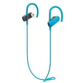 オーディオテクニカ ブルートゥースイヤホン [防水仕様] 耳かけ型 (ブルー) ATH-SPORT50BT BL