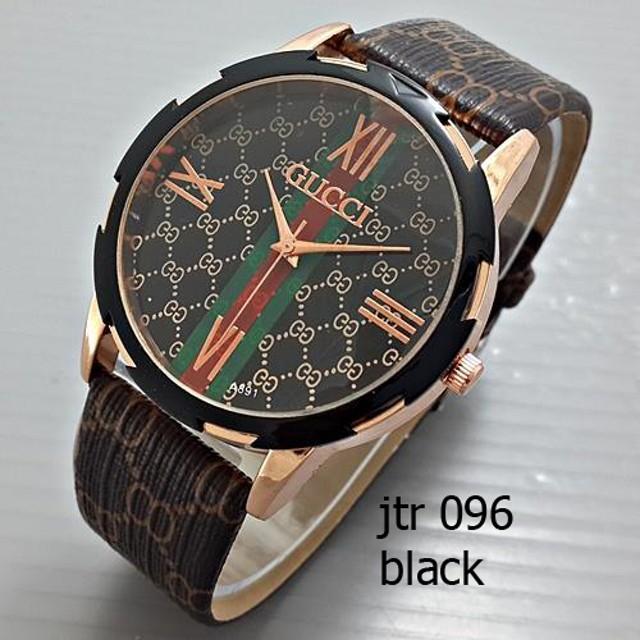 HQ31| jam tangan gucci wanita / cewek / jtr 096 black: Rp 90.000 Rp 63.000