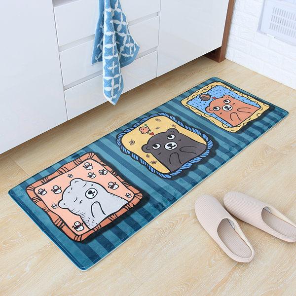 時尚創意地墊136 廚房浴室衛生間臥室床邊門廳 吸水長條防滑地毯(40*60cm 2件裝)