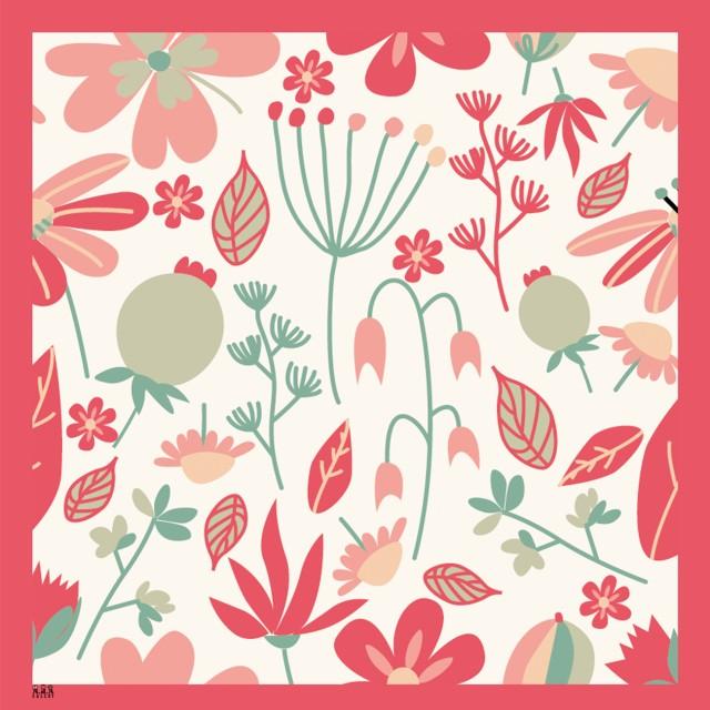 [PRE ORDER] Jilbab Segi Empat Printing Motif Floral: Rp 152.250