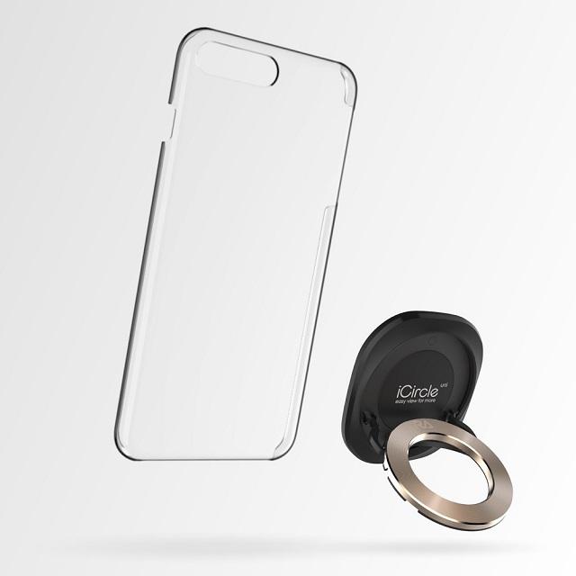 Rolling Ave.- iCircle Uni iPhone 8 Plus / 7 Plus 多功能支架保護殼 - 黑色金環