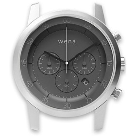 ハイブリッドスマートウォッチ wena wrist Chronograph Silver Head WN-WC01S-H スタンダードモデル