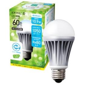 LDA11N-H-R1 LED電球 エコリカLeD ホワイト [E26 /昼白色 /1個 /一般電球形 /下方向タイプ]