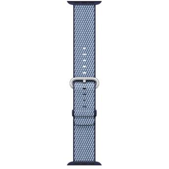 Apple Watch 38mm用交換バンド ミッドナイトブルー(チェッカー) ウーブンナイロン MQVC2FE/A