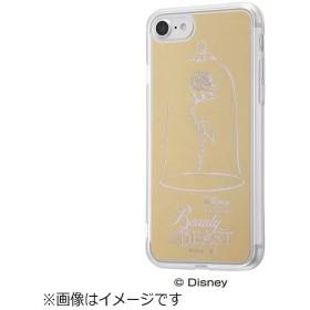 iPhone 7用 ハイブリッドケース ミラーゴールド ディズニー 美女と野獣 バラ IN-DP7UM/RS