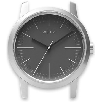 ハイブリッドスマートウォッチ wena wrist Three Hands Silver Head WN-WT01S-H