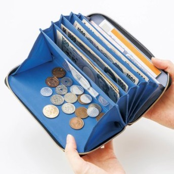 レシートポケットが決め手! やりくり上手な仕分け長財布の会 フェリシモ FELISSIMO