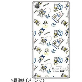 Xperia Z3用 ハードクリアケース ディズニー・ドナルド ホワイト M-factory Z3-71436