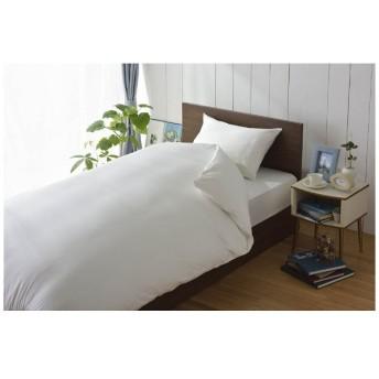 【ワンタッチシーツ】80サテン シングルサイズ(綿100%/105×215cm/ホワイト)【日本製】