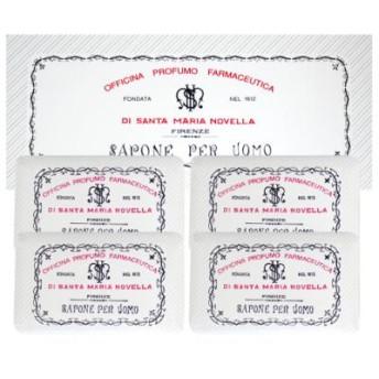 サンタマリアノヴェッラ メンズ ソープ4P パチューリ 4×130g メンズ ボディケア