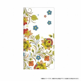 Galaxy Feel用 手帳型ケース薄型デザインPUレザーケース Design+ Flower ポップ LEPLUS LP-SC04JLD004