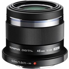カメラレンズ M.ZUIKO DIGITAL 45mm F1.8【マイクロフォーサーズマウント】(ブラック)