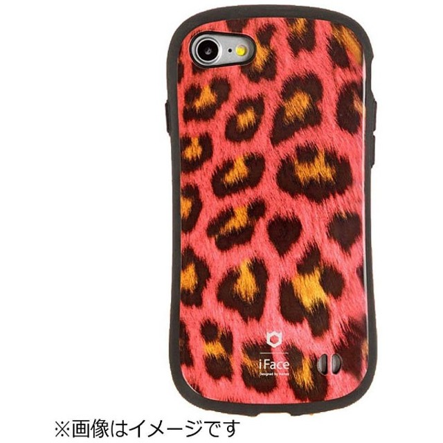 iPhone 7用 iFace First Class Africa ピンクヒョウ