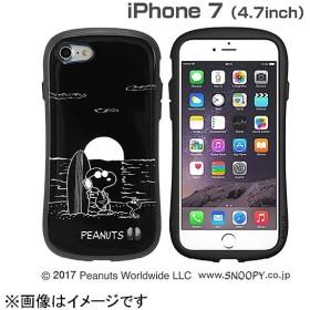 iPhone 7用 PEANUTS/ピーナッツ iFace First Classケース ブラック