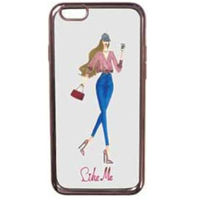 iPhone 7用 Like Me METALLIC TPUケース pink blouse 表向き LIKE701