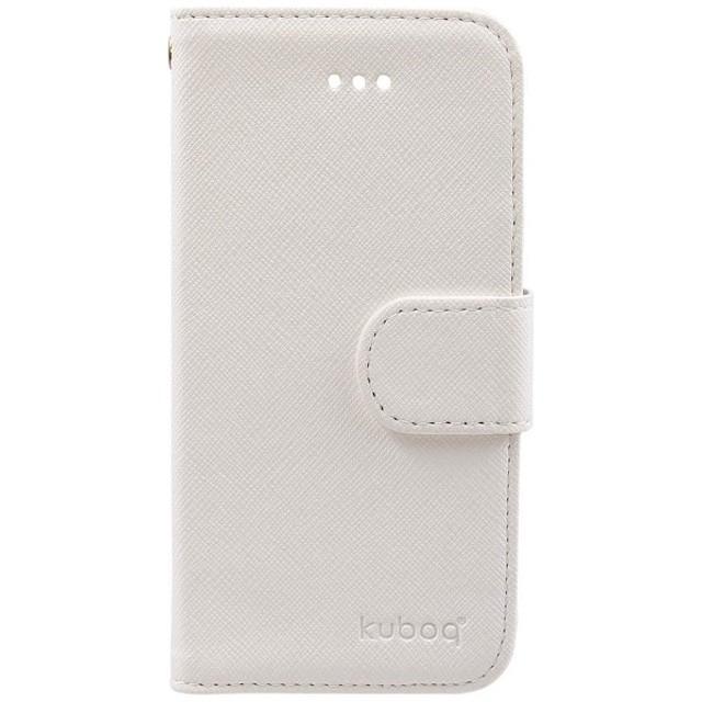 92f6babead iPhone SE / 5s / 5用 kuboq 合皮 手帳型ケース ホワイト OWL-CVIP5SE01 ...