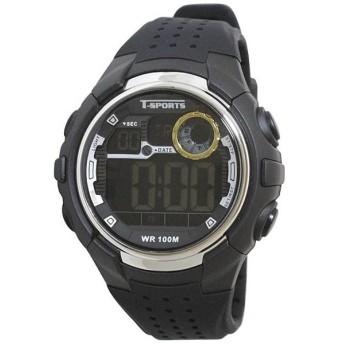 ティー・スポーツ(T-SPORTS) デジタル腕時計 TS-D038-BK ブラック