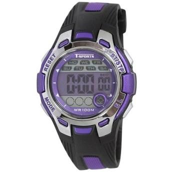 ティー・スポーツ(T-SPORTS) デジタル腕時計 TS-D042-PU パープル×ブラック