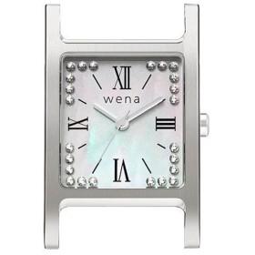 wena wrist交換用ヘッド 「wena wrist Square Silver -Crystal Edition- Head」 WN-WT12S-H