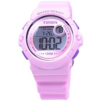 ティー・スポーツ(T-SPORTS) デジタル腕時計 TS-D041-PK ピンク