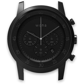 ハイブリッドスマートウォッチ wena wrist Chronograph Premium Black Head WN-WC01B-H