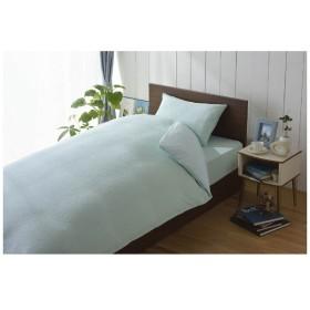 【ワンタッチシーツ】綿マイヤー ダブルサイズ(綿100%/145×215cm/ブルー)【日本製】
