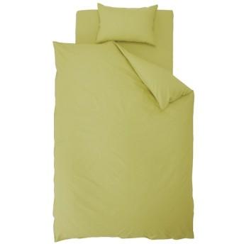 【ボックスシーツ】花粉レリーズ加工 セミダブルサイズ(綿100%/120×200×30cm/グリーン)【日本製】