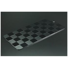 iPhone 7 Plus用ソリッドバンパー対応 アルミパネル市松 ブラック 42044 GI-310B